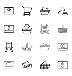 16 purchase icons vector image