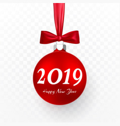 2019 christmas and new year background with red vector image