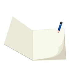 A Pencil Lying on A Blank Sketchbook vector image