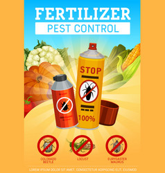 Agrarian fertilizers and farming pest control vector