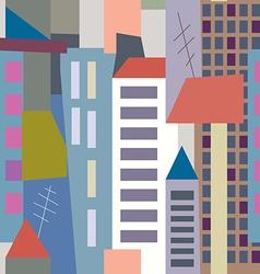 Big city seamless pattern vector