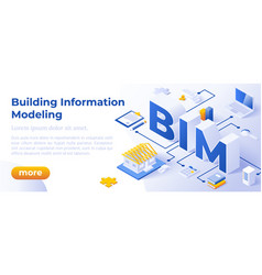 Bim - isometric website vector