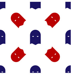 Blue and red executioner mask icon isolated vector
