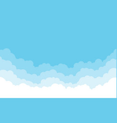 blue sky with white clouds background cartoon vector image
