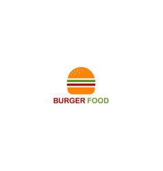 Burger logo for food and drink restaurant vector