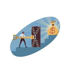Business goal achievement money profit concept vector