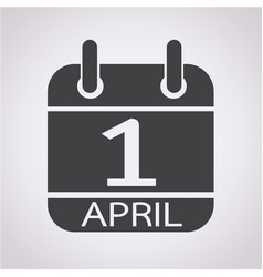calendar 1 april icon vector image