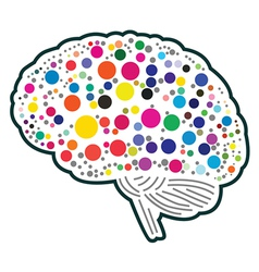 Colorful Polkadot Brain vector