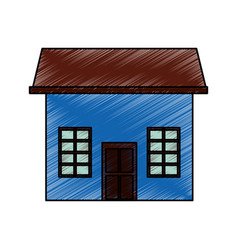 cute house exterior icon vector image