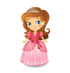 Cute little princess vector