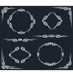 Decor Elements Set vector image