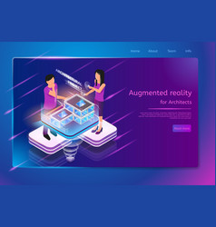 designing architecture in augmented reality vector image