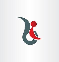 Disabled handicap man symbol vector