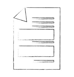 documents sheets isolated vector image