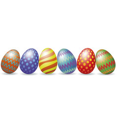 Easter eggs with shadow vector