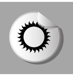 Eco sticker design vector