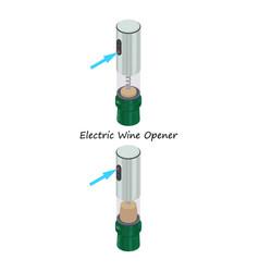Electric wine opener icon isometric style vector
