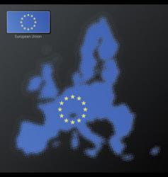 European union halftone vector image