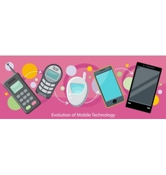 Evolution of Mobile Technology Design Flat vector image