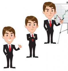executive cartoon vector image vector image