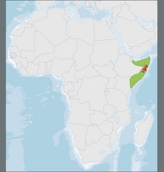 Federal republic somalia location on africa map vector