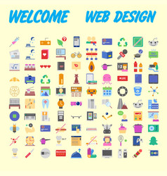 flat seo optimization business startup and vector image
