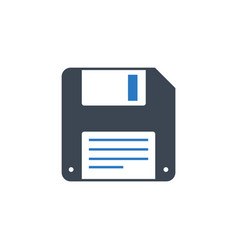 floppy disk line related glyph icon vector image