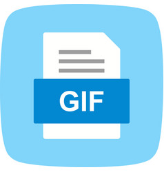 Gif file document icon vector