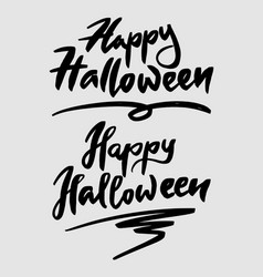 halloween typography vector image