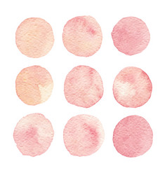 hand painted watercolor texture circles isolated vector image