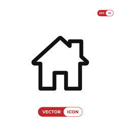 home icon house real estate residential symbol vector image