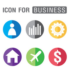 Icon for business set isolated on white background vector