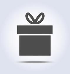 Icon present box vector