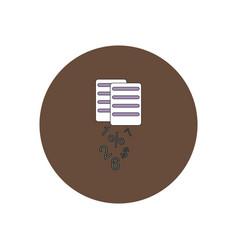 In flat design of documents vector