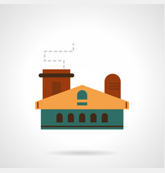 industrial plant flat color icon vector image