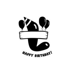 initial birthday l letter happy birthday monogram vector image