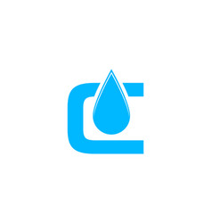 initial letter c drop water logo vector image
