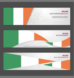 ireland independence day abstract background vector image
