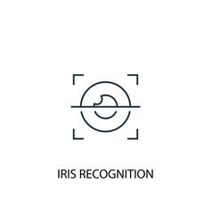 iris recognition concept line icon simple element vector image