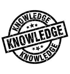 Knowledge round grunge black stamp vector