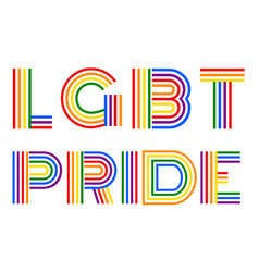 Lgbt pride gender equality lettering vector