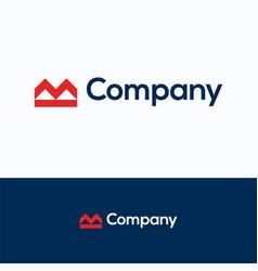 m company vector image