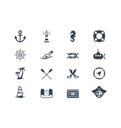 Marine and nautical icons vector