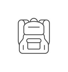 modern backpack line outline icon vector image