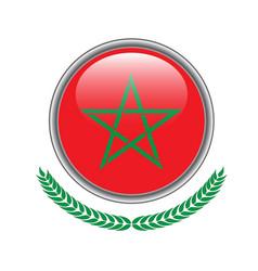morocco flag button morocco flag icon of morocco vector image