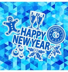 New Year Mosaic Pattern vector