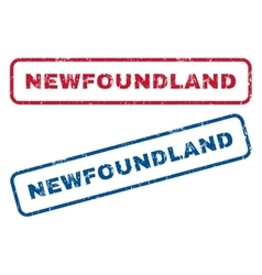 Newfoundland Rubber Stamps vector image