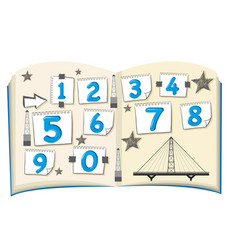 Number one to zero on the book vector