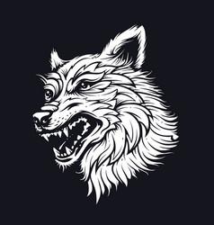 Old school wolf vector