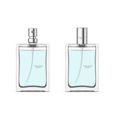 perfume glass bottle mockup vector image